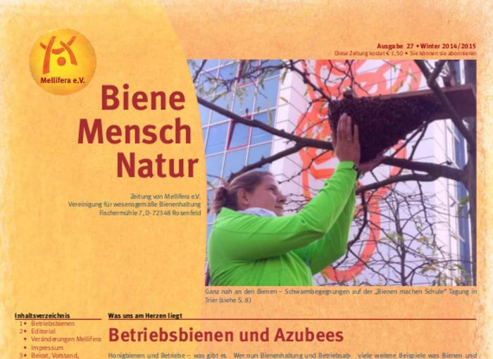 Cover BieneMenschNatur.27